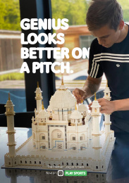 Telenet: Genius looks better on a pitch, 2 Print Ad by Make, TBWA, Belgium