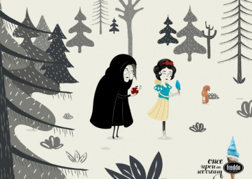 Freddo: Snow White Print Ad by Y&R Buenos Aires
