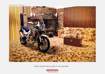 Honda: Africa Twin At Home, 1 Print Ad by DDB Paris