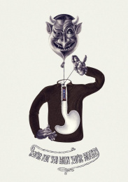 Snickers: Evil Print Ad by Impact BBDO Dubai