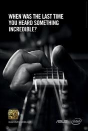 Asus: Guitar Print Ad by ZenithOptimedia London