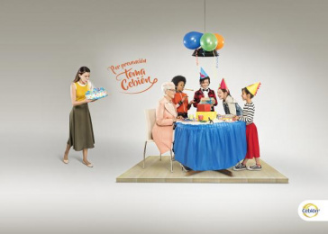 Cebion: Birthday Party Print Ad by Ade Bogota