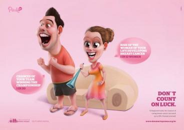 Instituto Maria da Penha (IMP): Don`t count on luck - soccer Print Ad by casasanto