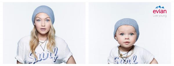 Evian: Baby Bay, Gigi Print Ad by BETC, Rita