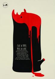 Malaysian Nature Society: Rhino Print Ad by Y&R Kuala Lumpur
