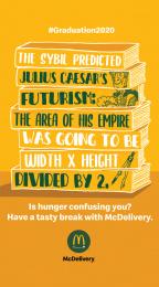 McDonald's: Graduation 2020 - Caesar Digital Advert by Leo Burnett Milan