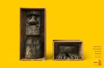DHL: Moai Print Ad by Miami Ad School Sao Paulo