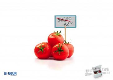 Uğur: Tomato Print Ad by Fikr Fikr Turkey, KAF Ankara