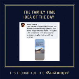 Rustomjee: The Family Time Idea Of The Day, 4 Digital Advert by Ideas@work
