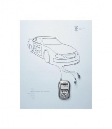 Xm Satellite Radio: RACE CAR Print Ad by Mullen Boston