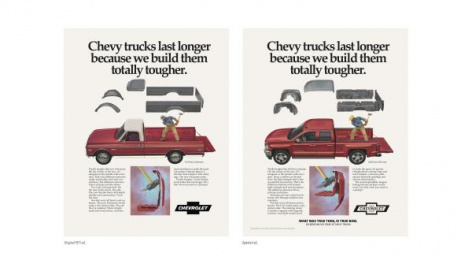 Chevrolet Trucks: Then/Now Buff, 2 Print Ad by Commonwealth/McCann Detroit, Supply&Demand