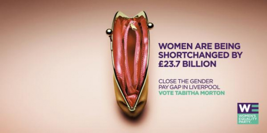 Women's Equality Party/WEP: Purse Outdoor Advert by Now London