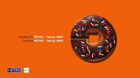 Uber: Donut Print Ad by AB&Partners