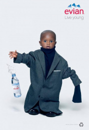 Evian: Oversize, 6 Print Ad by BETC
