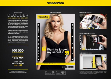 Wonderbra: WONDERBRA DECODER Digital Advert by Digitas Paris