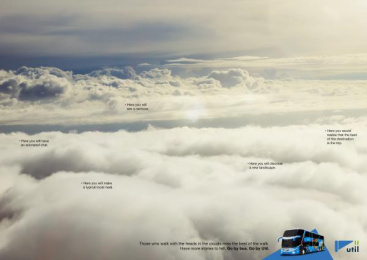 Util: In The Clouds, 3 Print Ad by Kindle Rio de Janeiro
