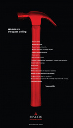 Hiscox: Women vs. the Glass Ceiling Print Ad by gyro New York