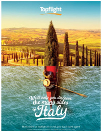 Topflight: Many Sides of Italy Print Ad by Publicis Dublin