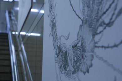 Meiji: Exhibition, 7 Outdoor Advert by Dentsu Inc. Tokyo