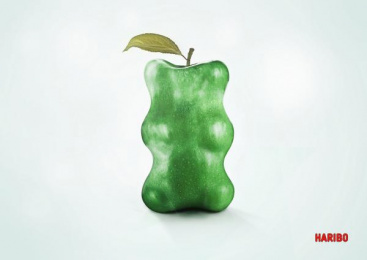 Haribo: Apple Print Ad by HAW Hamburg, Pierson Hawkins Advertising