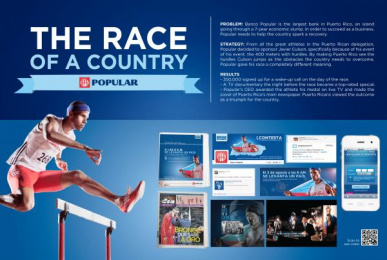 Banco Popular De Puerto Rico: THE RACE OF A COUNTRY Promo / PR Ad by J. Walter Thompson San Juan