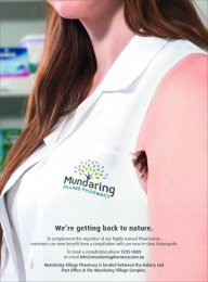 Mundaring Pharmacy: Getting Back To Nature Print Ad by Marketforce Australia