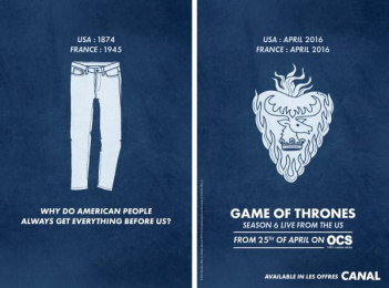 Game Of Thrones: Jeans Print Ad by BETC