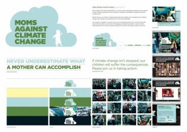 TAKEACTIONONCLIMATECHANGE.COM: MOMS AGAINST CLIMATE CHANGE Design & Branding by Zig Toronto