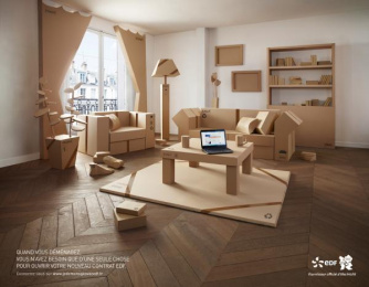 French Electricity Board: Moving Print Ad by BETC Euro Rscg Paris, Fabienne Meric