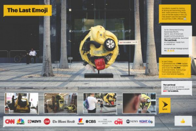 Sprint: The Last Emoji [image] Ambient Advert by Alma Miami