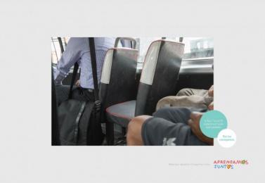 Aprendamos Juntos ONG: Uncomfortable Bus Sit Print Ad by Y&R Lima