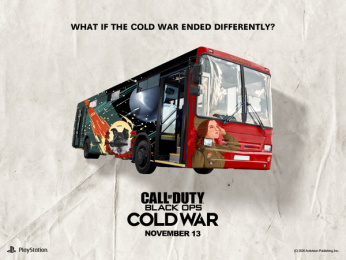 Activision: What if the Cold War ended differently?: Russebuss Print Ad by Stendahls