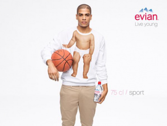 Evian Water: Basketball Print Ad by BETC Euro Rscg Paris