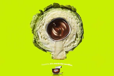 Danette: Cabbage Print Ad by Y&R Sao Paulo