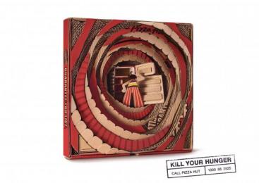 Pizza Hut: Empty Fridge Print Ad by Ogilvy & Mather Kuala Lumpur