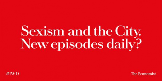 The Economist: Sexism and the City Outdoor Advert by AMV BBDO London