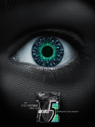 Wrigley's 5: Focus humanoid Print Ad by Energy BBDO Chicago