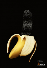 The Akatu Institute: Banana peel patties Print Ad by Leo Burnett Tailor Made Sao Paulo