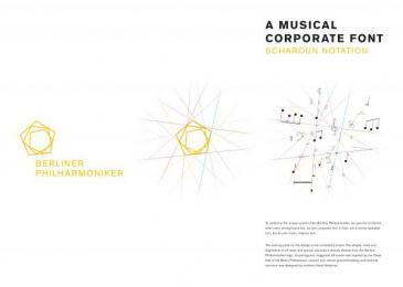 Berliner Philharmonie: A Musical Corporate Font [image] 5 Design & Branding by Atelier Dreibholz Vienna, Scholz & Friends Berlin