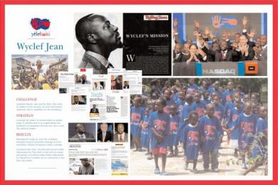 YÉLE HAITI: WYCLEF JEAN FOR PRESIDENT Promo / PR Ad by Euro Rscg Haiti