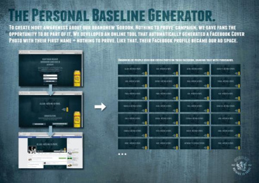 Gordon Finest Beers: The personal baseline generator Digital Advert by 10 Advertising, Touche, Yves Van Houdt