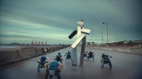 Channel 4: Channel 4 Idents 2017 –  Wheelchair Film by 4creative