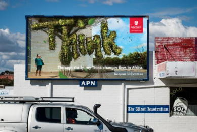 Murdoch University: Genna Outdoor Advert by JWT Perth, Vandal