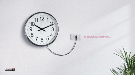 Energizer: Clock Print Ad by Team collaboration