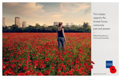 The Royal British Legion: Poppy, 1 Print Ad by Unit 9 London, Y&R London