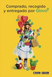 Glovo: Girl Print Ad by Pavlov