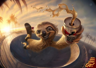 Power Horse: Sloth Print Ad by Rocket Yard