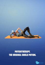 Australian Physiotherapy Association (APA): The Fortnite Physio, 3 Print Ad by Award School