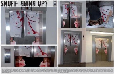 Snuff Clothing: Elevator Ambient Advert by BBDO Myres Norway, Uncle Grey Norway