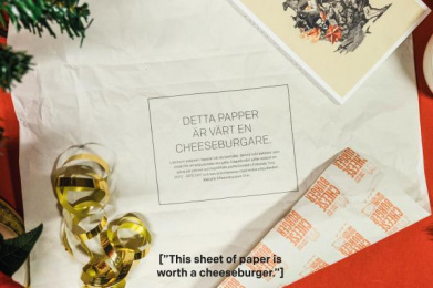 McDonald's: Gift Wrap Redeemed for a Cheeseburger, 2 Direct marketing by DDB Stockholm